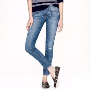 J. Crew Distressed Toothpick Ankle Jeans